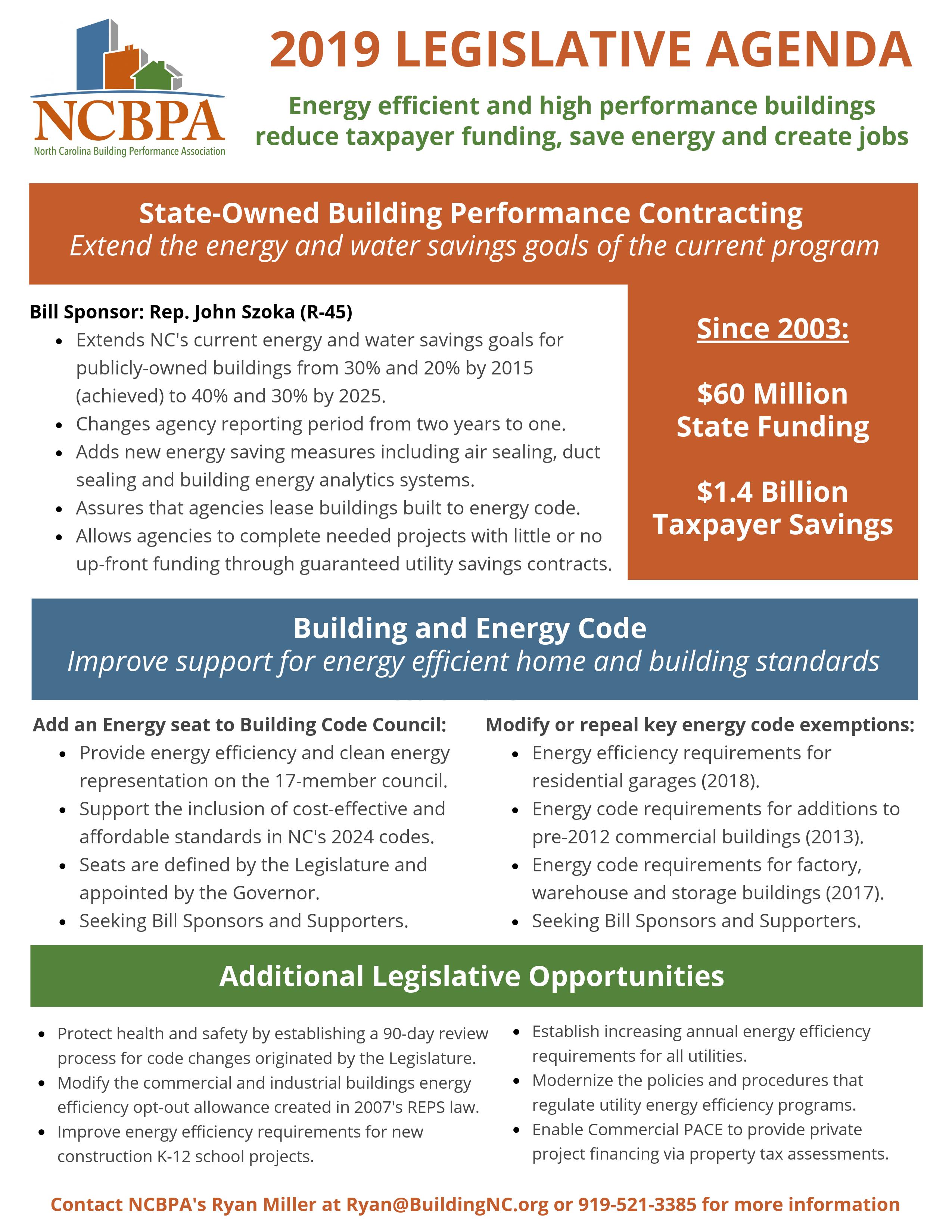 Policy & Legislation – NCBPA